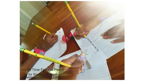 My kids writing with their Ticonderoga Pencils