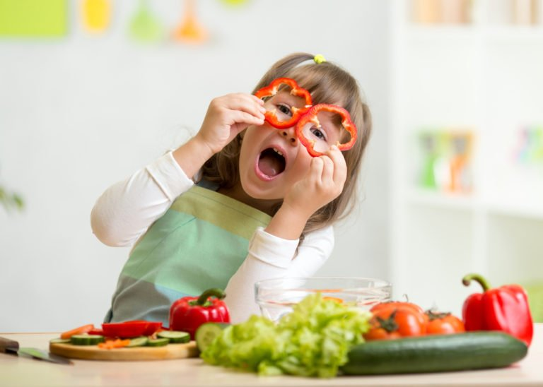 Have some fun as you and your child prep veggies for your meal or as a snack