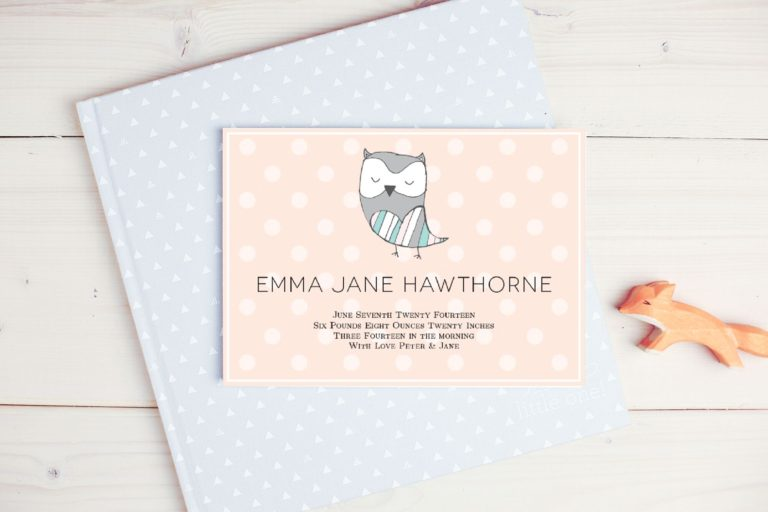 Custom Cards - Birth Announcements