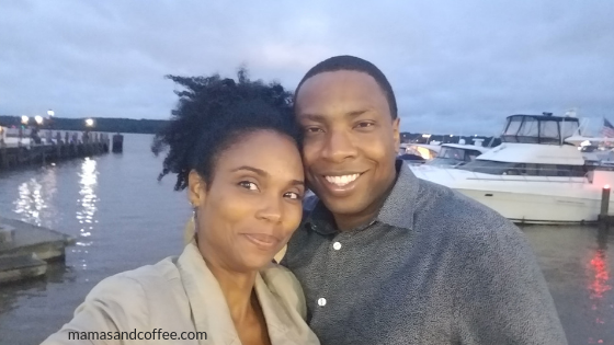 hanging out with hubby after dinner at Hank's Oyster Bar. I need to learn where to look during selfies. lol