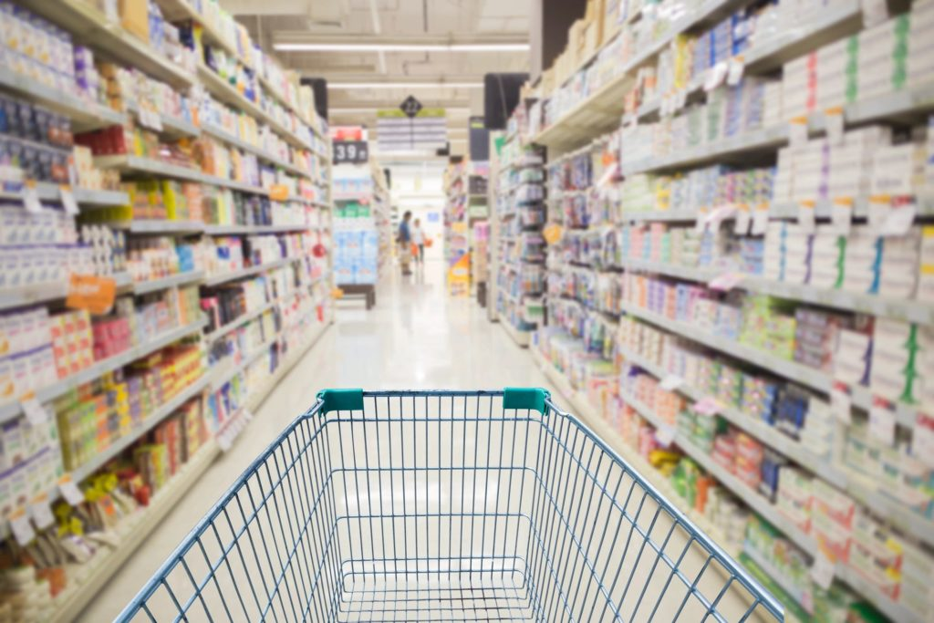 Grocery shop with printable coupons to save money