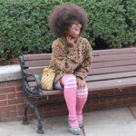 Baby pink thigh-highs make an amazing fashion statement. Create your own custom thigh-highs for fashion, sports, or events.